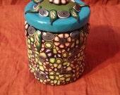 Millefiori Mosaic Upcycled Medium Jar