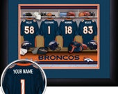 PERSONALIZED & FRAMED NFL Denver Broncos Sports Print