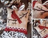 Little Red Bird - PDF DIGITAL Cross Stitch Pattern