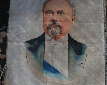 Fab French-found Vintage Godfrey Phillips BDV  Tobacco Silk Cigarette Card-President Poincare-circa1920