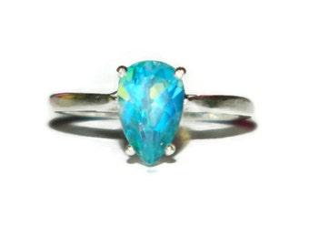 Topaz Ring, Set In Sterling Silver, Mystic Sea Jewel