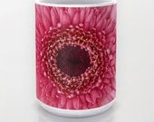 Pink Gerbera Daisy Ceramic Coffee Mug, Photo Mug, Flower Mug, Fine Art Photography