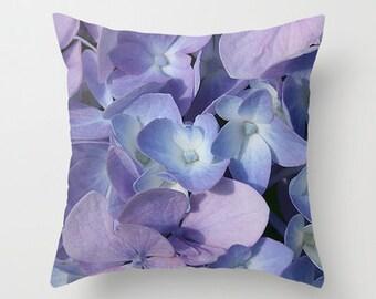 Hydrangea Photo Throw Pillow, Flower Pillow, Throw Pillow, Photo Pillow, Flower Photography