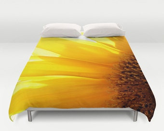 Sunflower 2 Duvet Cover, King Duvet, Queen Duvet, Flower, Garden, Bedding, Bed Decor