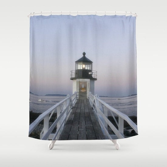 Marshall Point Lighthouse Shower Curtain Shower Curtain