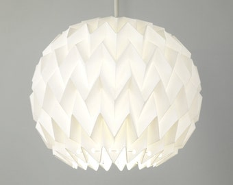 BUBBLE: Origami Polypropylene Lamp Shade - WHITE / FiberStore by Fiber Lab