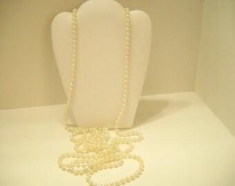 "Vintage 70"" Faux Pearl Necklace (2229) 5mm"