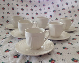 Mikasa Italian Countryside Set of 6 Cups and Saucers