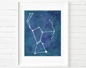 Orion the Hunter Constellation Watercolor Giclee - Varying Sizes