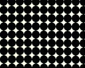 Black White Geometric Cotton Upholstery Fabric by the Yard - Polka Dot Fabric - Black White Drapery Fabric with Circles - Black Home Decor