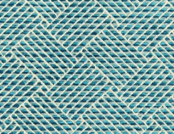 Turquoise Chenille Upholstery Fabric For Furniture Custom - Chenille upholstery fabric