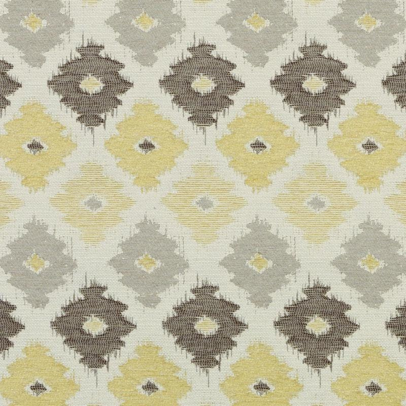 yellow grey woven ikat upholstery fabric brown yellow. Black Bedroom Furniture Sets. Home Design Ideas