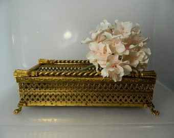 Vintage Gold Ormolu Kleenex Tissue Holder