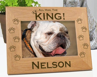 All Hail The King Dog Picture Frame