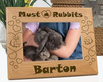 Must Love Rabbits Picture Frame