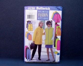Jacket Vest Skirt Pants Tube Sewing Pattern . UNCUT . size 8 -10-12 . Butterick 5150 . 1997