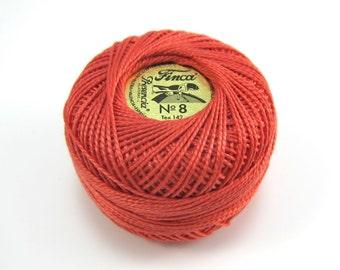 Finca Perle Cotton Thread Pearl Cotton - Coral