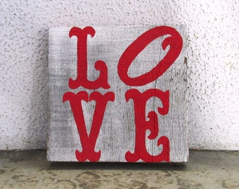 Love Shabby Chic Reclaimed Wood Art. Reclaimed Wood Art, Rustic Decor, Beach Decor, Valentine's Day Decor ~Ready to Ship!~