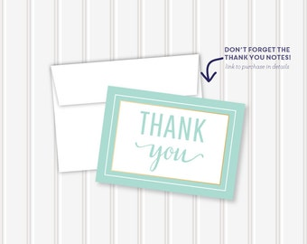 In Between the Gold Thank You Notes | 3.5x5 | folded