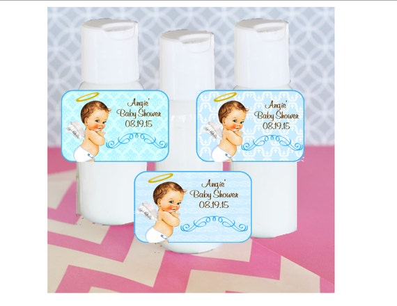 Baby Shower Favors Hand Lotion ~ Hand lotion baby shower favor vintage boy angel