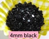 400 pcs/800 pcs 4mm Black Half Pearl Cabochons, Flatback Round, Faux Pearl Cabochons,  Decoden Craft. DIY Phone Decoration  PBL4MM