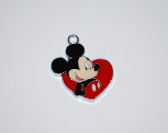 Disney Mickey Mouse Enamel Clip Charm, zipper pull, backpack, cell phone, purse clip, bracelet, necklace or scrapbooking