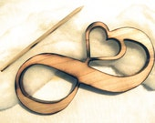 ELITE Collection Country Rustic Shabby Open Heart Wood Art Infinity Symbol Wedding Cake Topper