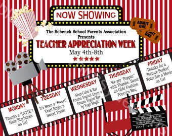 "Teacher Appreciation Week Sign- Printable, 16"" x 20"""