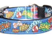 Super Hero Dog Collar, FREE SHIPPING, super hero, dog collar, adjustable dog collar