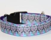 Sugar Skull Dog Collar, FREE SHIPPING, adjustable dog collar, skulls, sugar skull