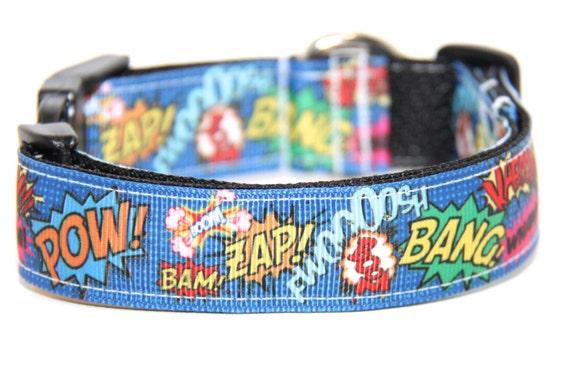 Super Hero Dog Collar, FREE SHIPPING, super hero, dog collar, adjustable dog collar