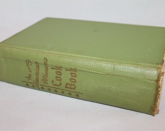 Vintage 1955 The American Womans Cookbook Green Cover Cooking Recipe Book
