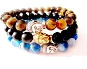 Men's Bracelets. Buddha Bracelet. Men's Beaded Bracelet. Men's Jewelry. Men's Yoga Bracelet. Buddha Jewelry. Yoga Jewelry. Beaded Bracelets.
