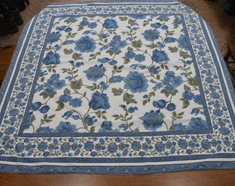 April Cornell tablecloth - blue and white flowers