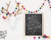 INSTANT DOWNLOAD, Christmas Song Lyrics, Handwritten, Printable, No. 187