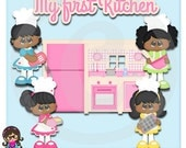 2015 My First Kitchen AA African American Clip art  Clipart Graphics  Commercial Use