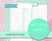 Daily Planner, Mint and Gold Life Planner, Personal Planner, Mint Notebook, Life Organizer, Mint and Gold Week Planner, Day Planner