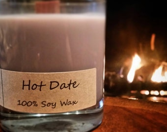 Hot Date. 11oz Soy Candle with Wood Wick