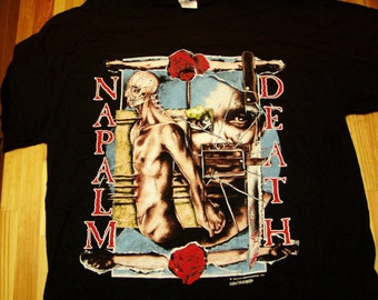 Napalm Death Diatribes T-Shirt 1995 DeadStock Mint