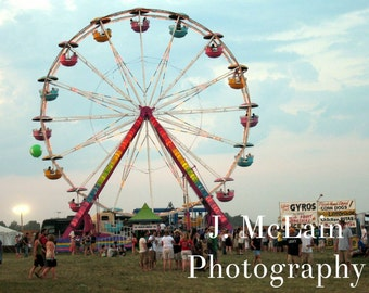 "Photography print - ""bonnaroo ferris wheel"""