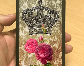 iPhone case with Crown and Rose on Vintage iphone 6 iphone 5 iphone 4 case