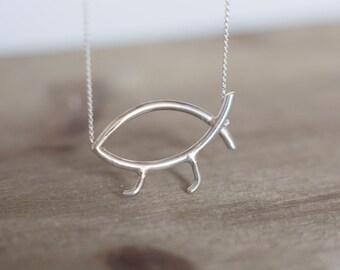 Darwin Fish Necklace