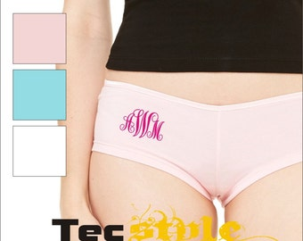 Monogram Underwear Shorties / Panties / Hot Shorts / Boy Shorts