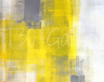 Digital Download - Simple Squares, Grey and Yellow Abstract Artwork