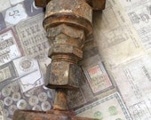 Old Rusty Water Valve Salvaged Hardware Ornate Rusted Object Found Objects Altered Art Sculpture