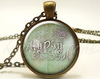 Gypsy Soul Bohemian Necklace, Hippie Jewelry, Boho Fashion Pendant (1898B1IN)