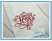 INSTANT DOWNLOAD Valentine's Day Love Swirly applique design in digital format for embroidery machine by Applique Corner