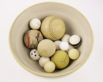 A Bunch of Vintage Balls - Estate Sale Find - Beat Up and Played With - Mix and Match - Baseball, Pingpong, Softball, Tennis, Wiffle