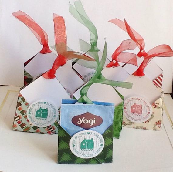 Christmas Tea Party Ideas: Items Similar To Christmas Tea Bag Holders, Two Sided