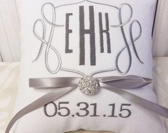 Ring Bearer Pillow, Monogram Ring Bearer Pillow, ring pillow, ring bearer, wedding pillow, personalized pillow, custom pilloe